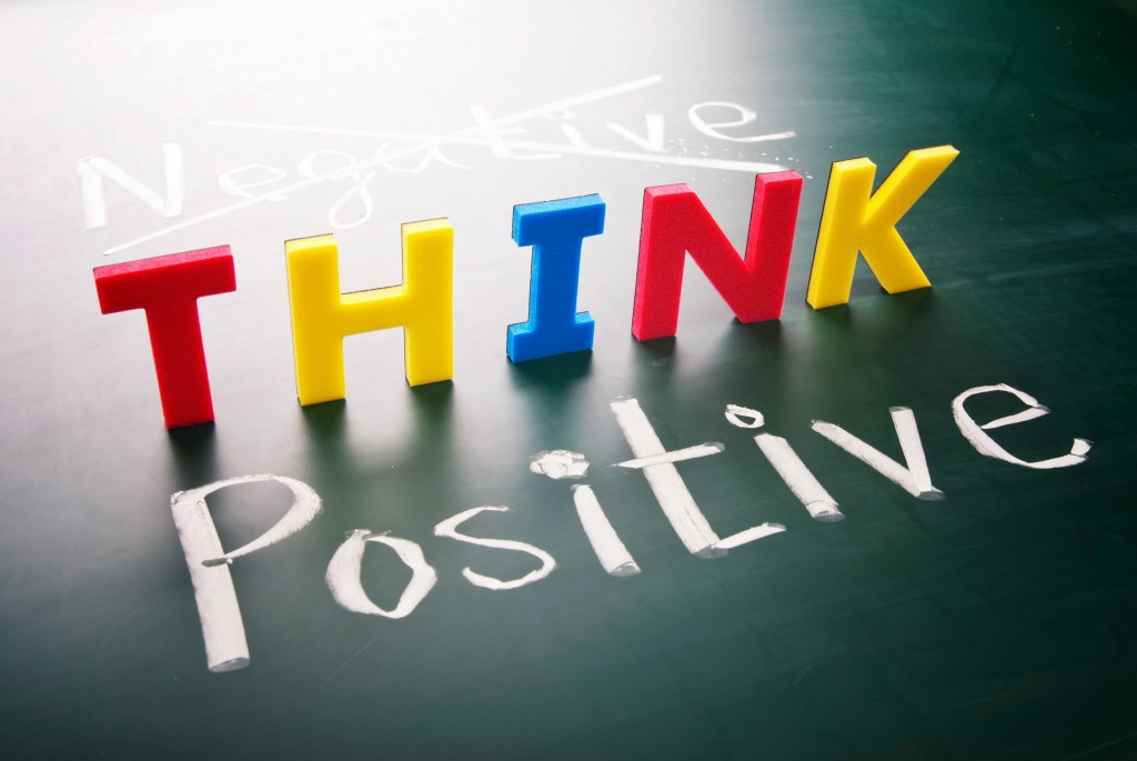 This is an image that depicts thinking positive.