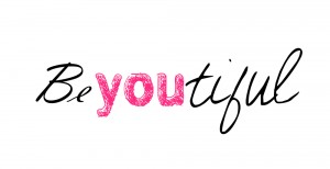 Text of the word Beautiful with YOU highlighted