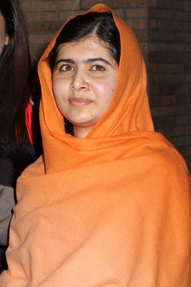 This is a photo of Malala Yousafzai